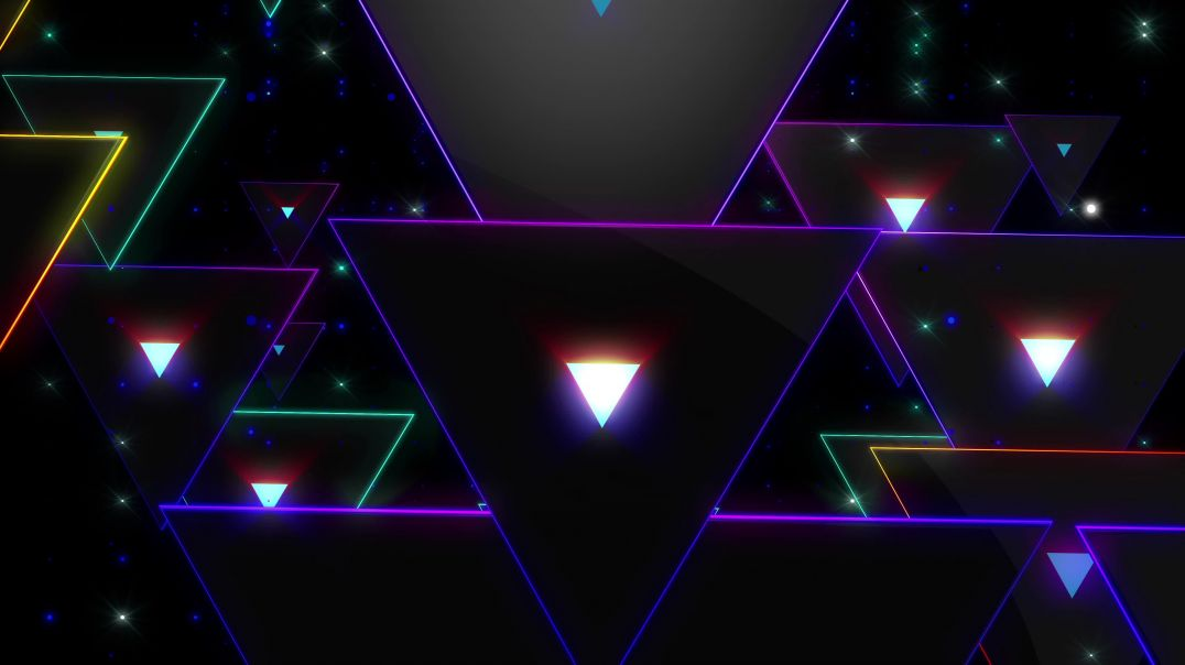 4K Abstract Triangles Rendering